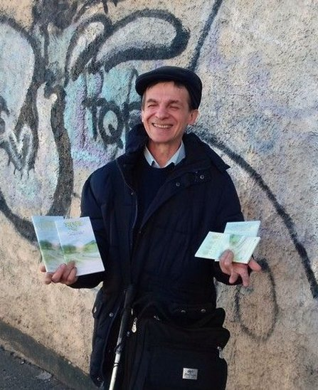 Carlo Piccato of Turin Italy—spreading goodwill with The Way to Happiness