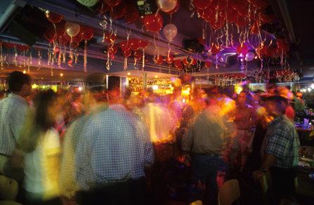 Overcrowded bar