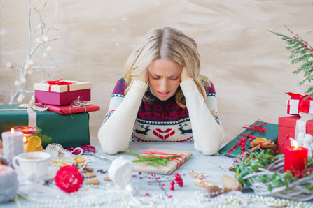 woman is stressed out about holidays