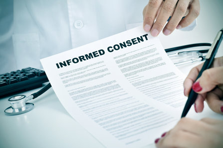 Signing  informed consent