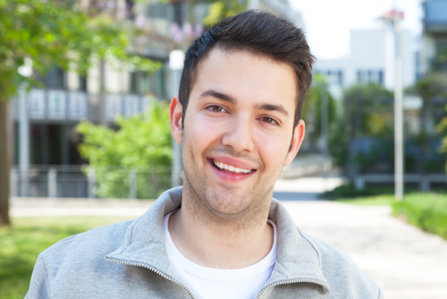 Happy young man