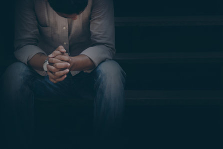 Man in a darkness
