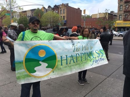 Staff of the Church of Scientology Harlem march to raise moral standards in the community