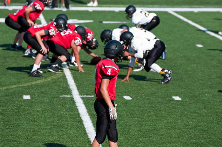 Young athletes playing football are subject to injury, painkillers and addiction.