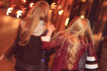 Drunk teenage girls
