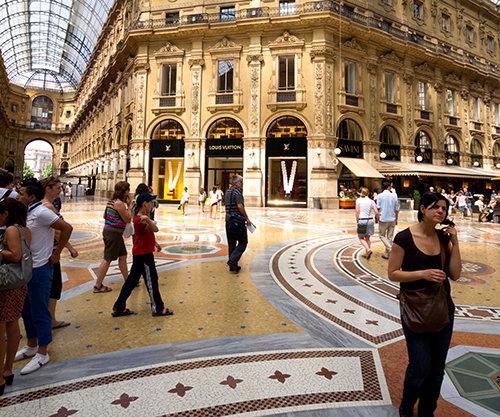 מרכז קניות במילאנו