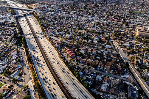 Inglewood billede fra himlen