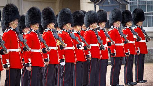 Wacht bij Buckingham Palace