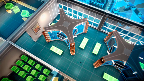 Scientology Media Productions. Eksempel af visuelle effekter