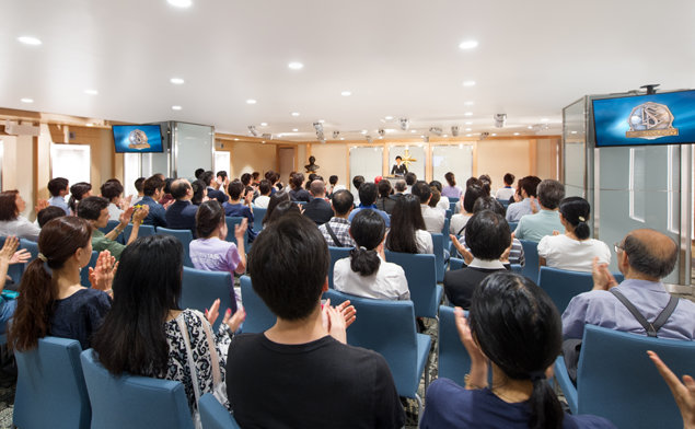 The Tokyo Ideal Church is a place of bustle and activity — community meetings