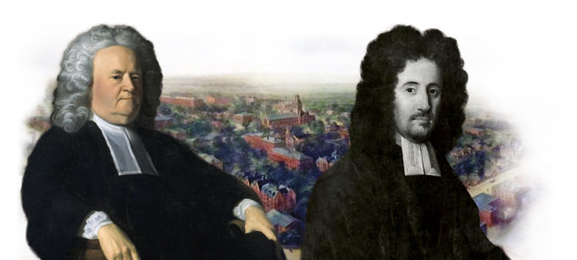 Harvard Presidents Edward Holyoke (left) and Benjamin Wadsworth (right)