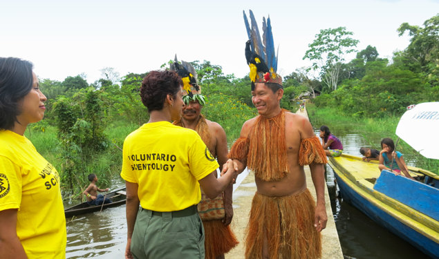 Scientology Volunteer Ministers meet with the indigenous tribal leader