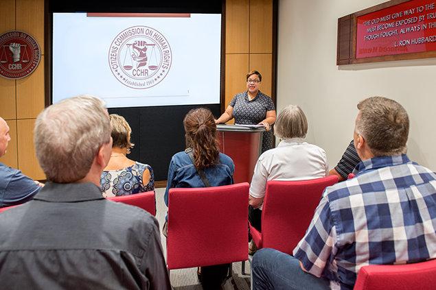 Lawyer Carmen Miller's seminar in CCHR Florida