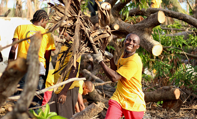 Volunteer Ministers deployed to towns across the island to heal communities with hands-on work