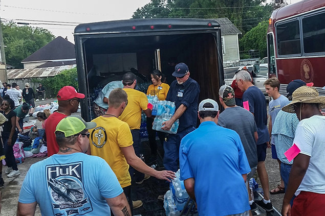 VMs also deployed to Houston, Beaumont, Corpus Christi and Rockport, where they cleaned out mud and flood damage, rebuilt walls and roofs, removed trees and rubble.