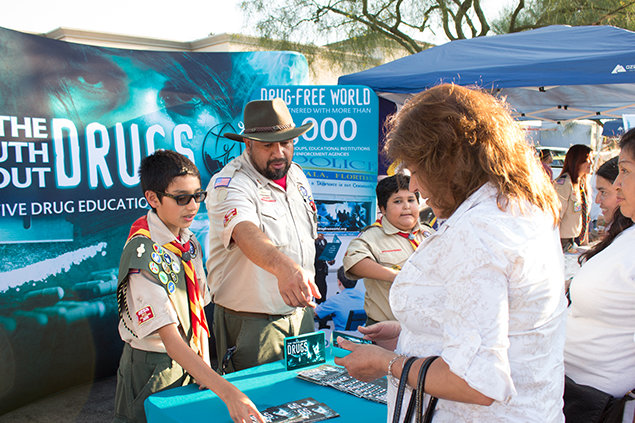 Boyscouts of America booklets distribution