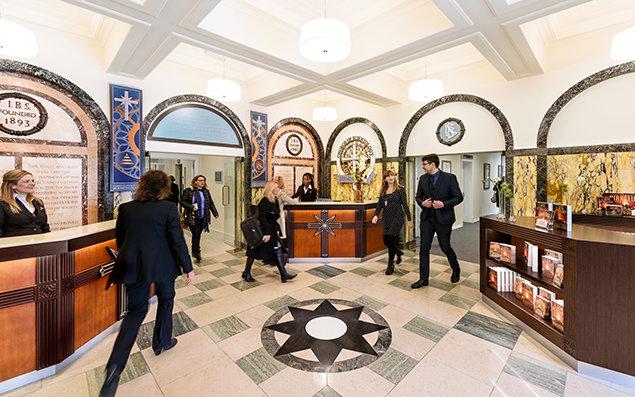 Scientology Kirche in Birmingham. Eingangsbereich