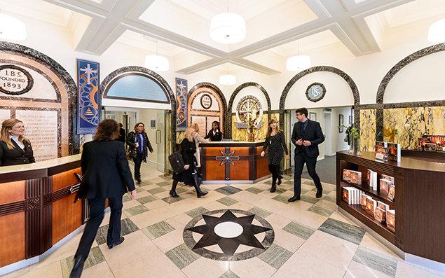 Scientology Kerk Birmingham. Receptie