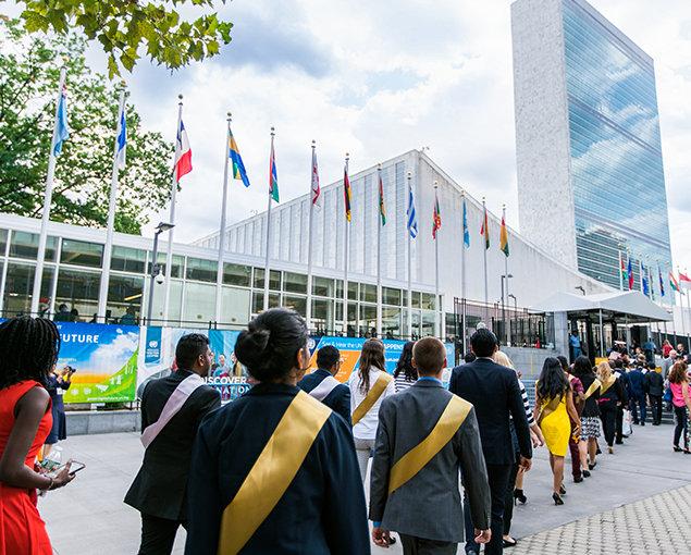 Menschenrechtsgipfeltreffen von Youth for Human Rights 2017. Privilegierter Zugang.