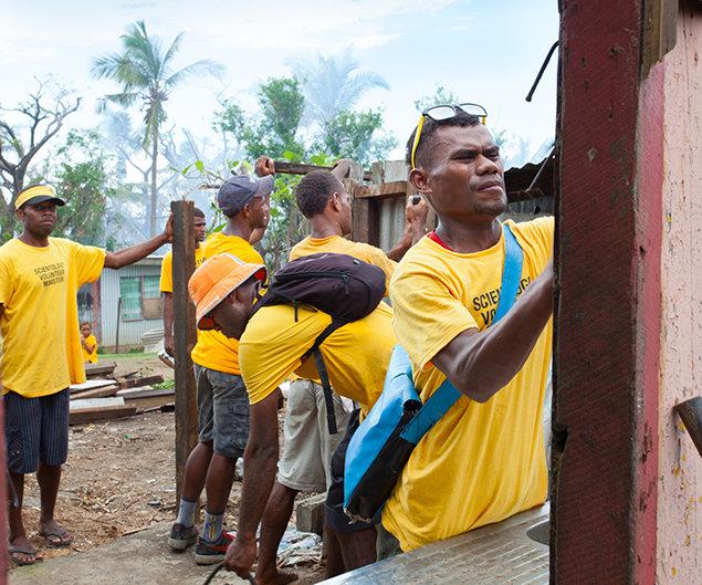 February 7, 2016. Fiji Islands Cyclone Winston