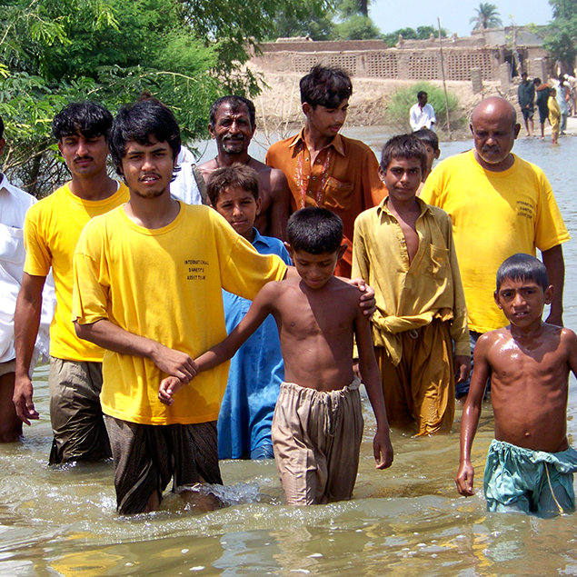 July 16, 2010. Pakistan Indus River Flood