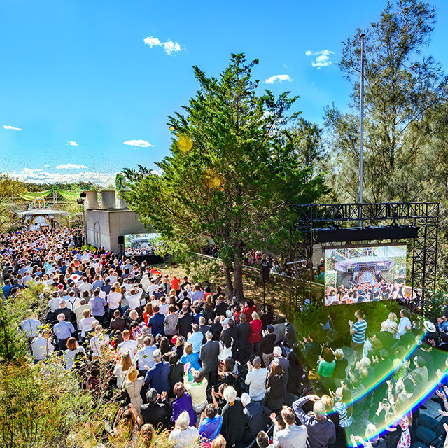 The inauguration of the massive new Church of Scientology Advanced Organization in Sydney, Australia