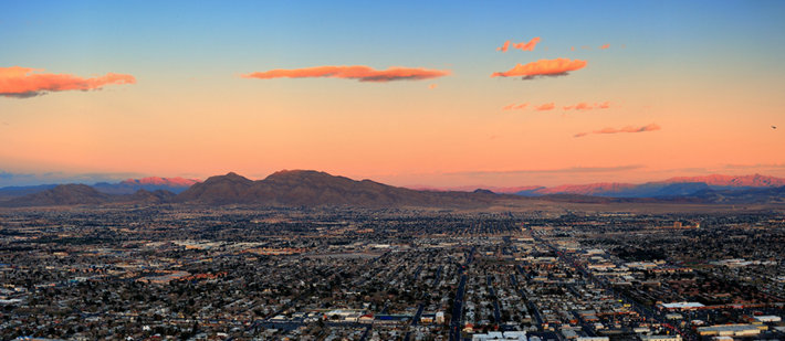 A panoramic of Las Vegas does not reveal the state's drug problem.