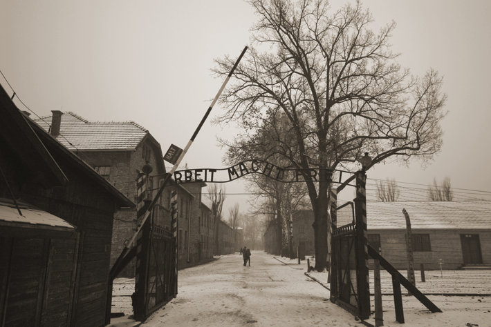 Auschwitz death camp. ( photo by AAR-Studio Shutterstock.com)