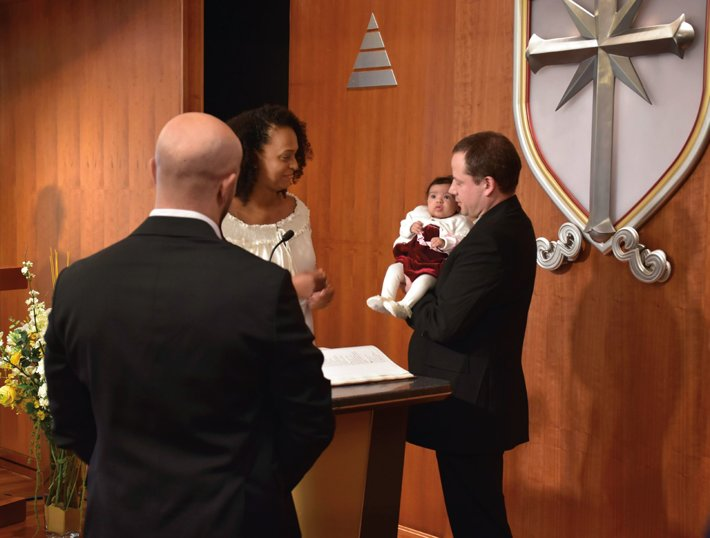 Naming ceremony at the Church of Scientology London