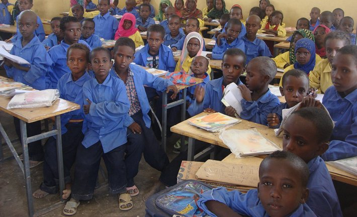 Eritrean refugee children in Asaita Refugee Camp in Ethiopia. (USAID)