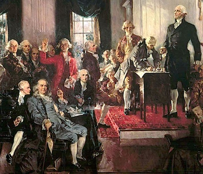 Signing of the Constitution of the United States (Painting: Howard Chandler Christy)
