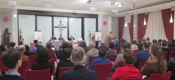 The World Interfaith Harmony Week panel discussion at the Church of Scientology Milan