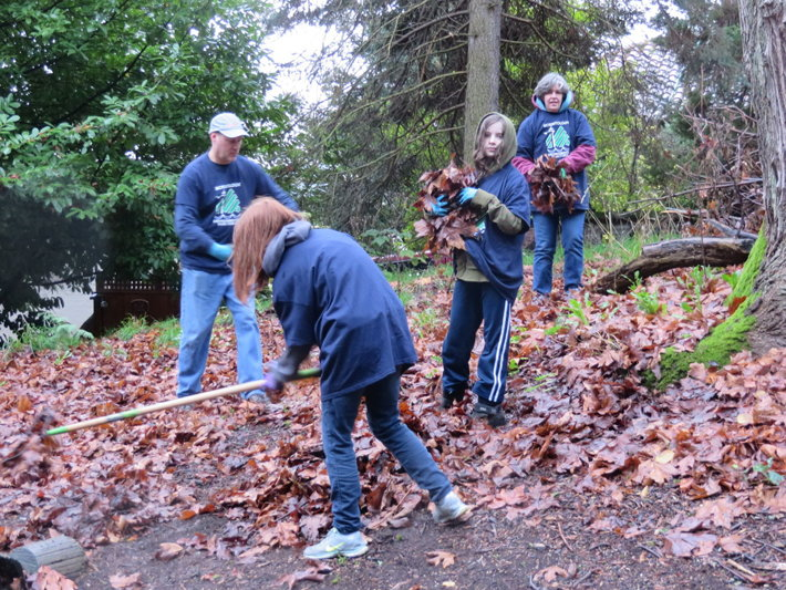 Members of the Church of Scientology Environmental Task Force on the 11th annual Green Seattle Day in Kinnear Park. The group adopted Kinnear Park 16 years ago to ensure that one of Seattle's most beautiful parks continues to serve the people of the city for many years to come.