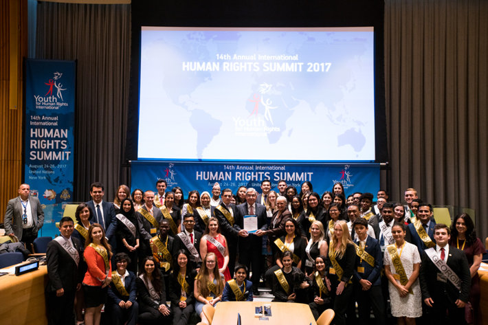 Sixty-six young human rights activists representing 42 nations attended the 14th annual International Human Rights Summit at the United Nations August 24 to 27.