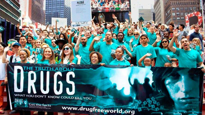 Bringing the Truth About Drugs to Times Square, New York City.