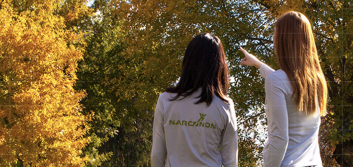 A person is well-supported through a Narconon withdrawal.