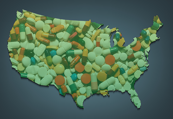 The U.S. seems to be covered in pills sometimes.