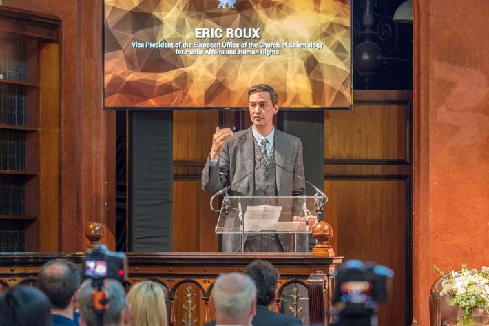 Rev. Eric Roux at the Faith and Freedom Conference