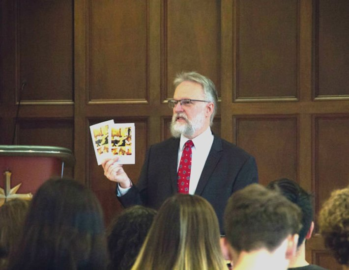 At last year's International Religious Freedom Day service, Rev. Fesler described the impact of the passage of this bill in 1998 and presented those attending with a booklet published by the Church of Scientology International on the freedom of religion or belief.