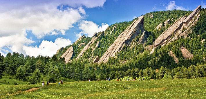 Flat Irons in Boulder Colorado