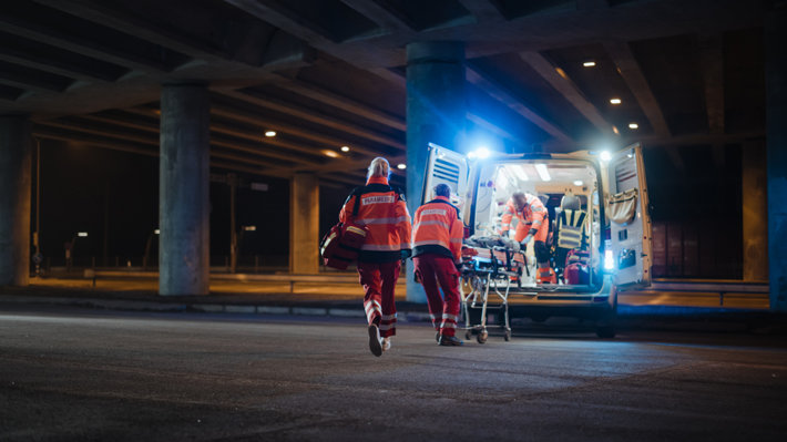 Paramedics on the street