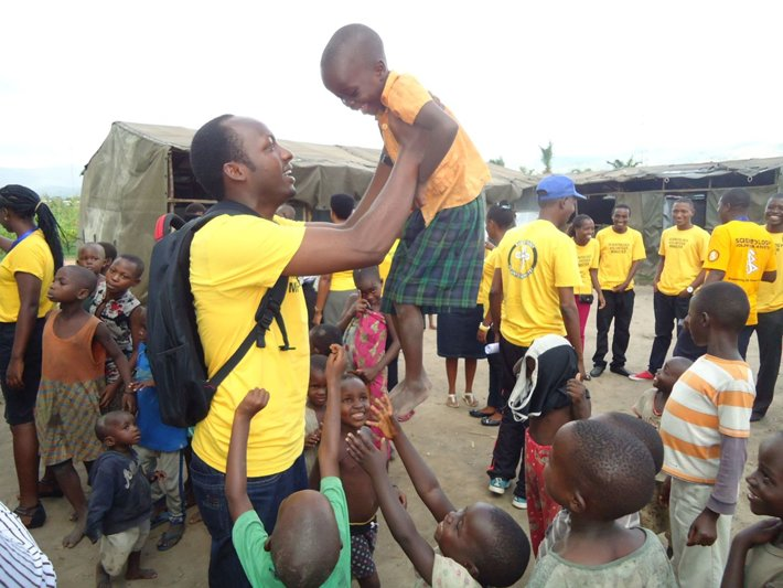 Volunteer Ministers providing help in a refugee camp in Burundi