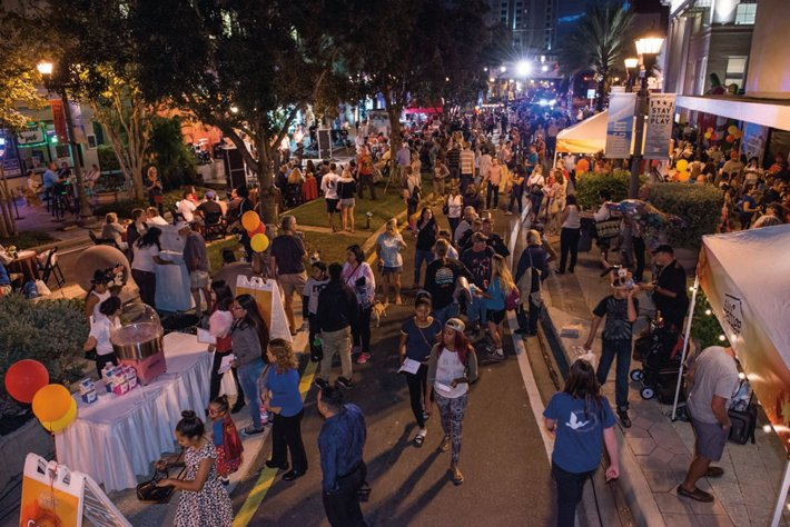 The downtown Clearwater block party