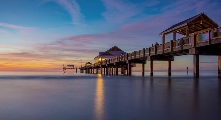 The pier at Clearwater Beach