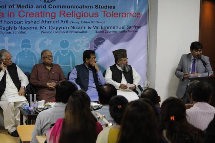 A seminar in Lahore, India, at the School of Media and Communication Studies of the University of Central Punjab