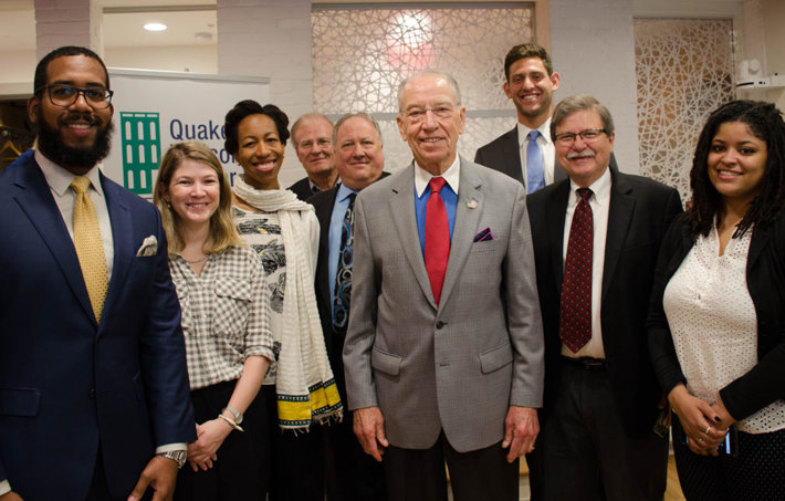 Interfaith Criminal Justice Coalition with Senator Grassley at the Conversation on Criminal Justice Reform