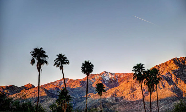 Palm Springs horizon