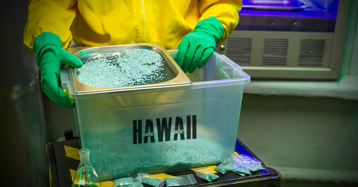 Hawaii meth production.