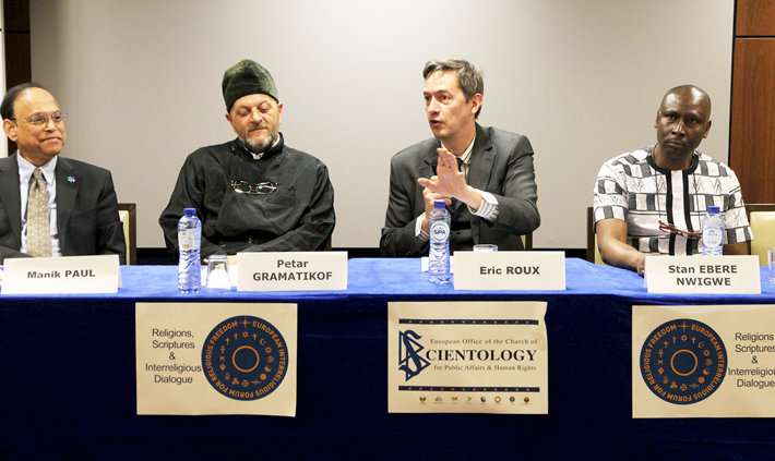 Conference on interreligious dialogue at the Brussels branch of the Churches of Scientology for Europe