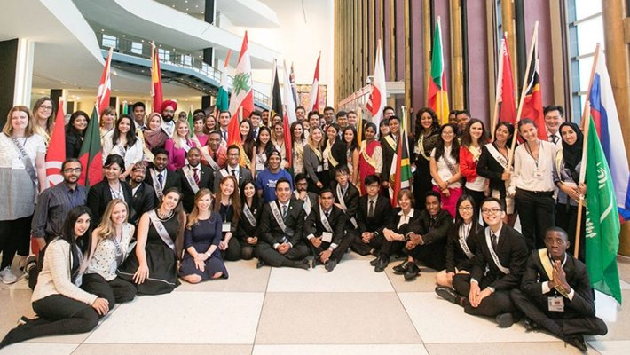 Young men and women selected for their outstanding human rights work to represent their nations at the 13th annual International Human Rights Summit of Youth for Human Rights International, held at the United Nations in New York.